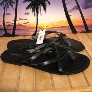 Sonoma black sandals size 9/10 NWT ☀️